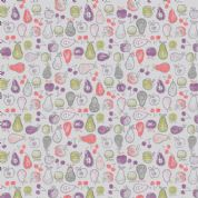 Lewis & Irene Farmers Market - 5354 - Fruit on Pale Lavender - A212.2 - Cotton Fabric